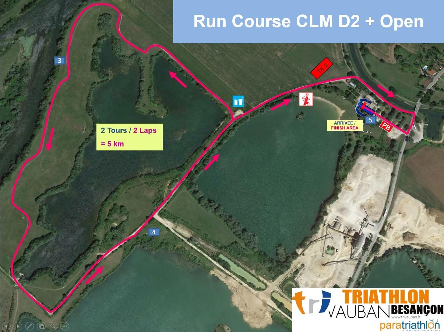 Parcours Course A Pied du Contre La Montre Triathlon Vauban