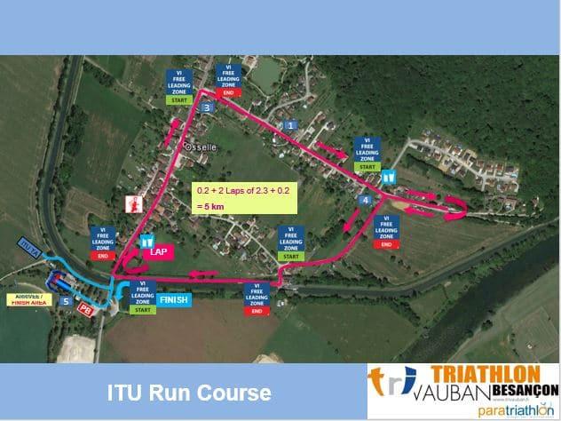 Parcours Course A Pied Itu Triathlon Vauban