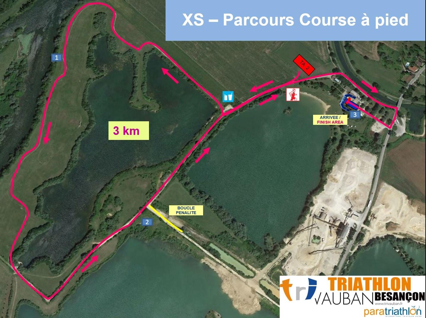Parcours Course A Pied Xs Triathlon Vauban
