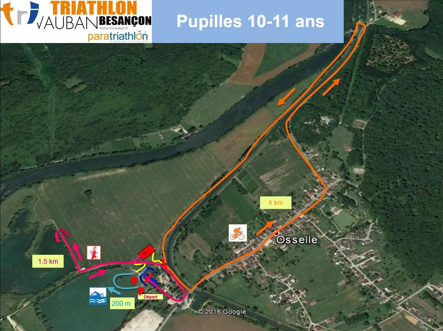 Parcours Course Jeunes 10-11 Ans Triathlon Vauban