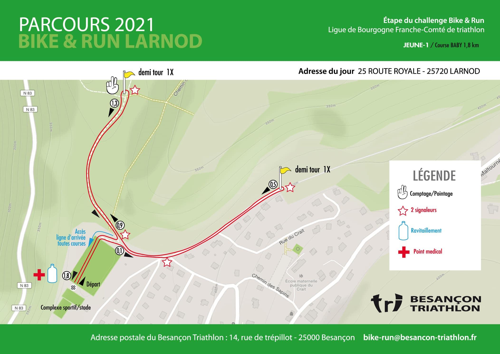 Parcours Jeunes 1 Course Baby Bike Run Larnod