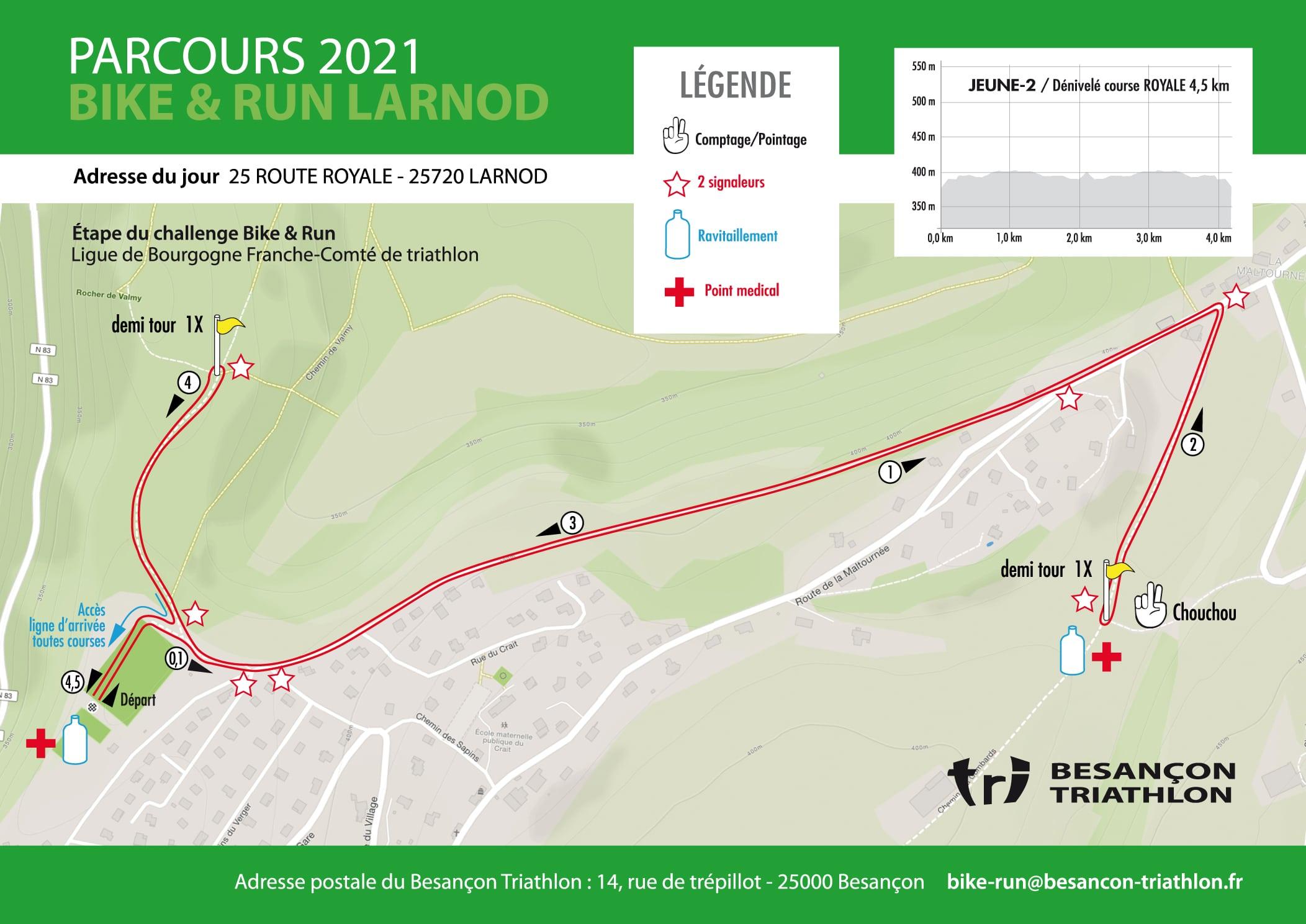 Parcours Jeunes 2 Course Royale Bike Run Larnod
