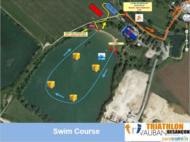 Parcours Natation Itu Triathlon Vauban