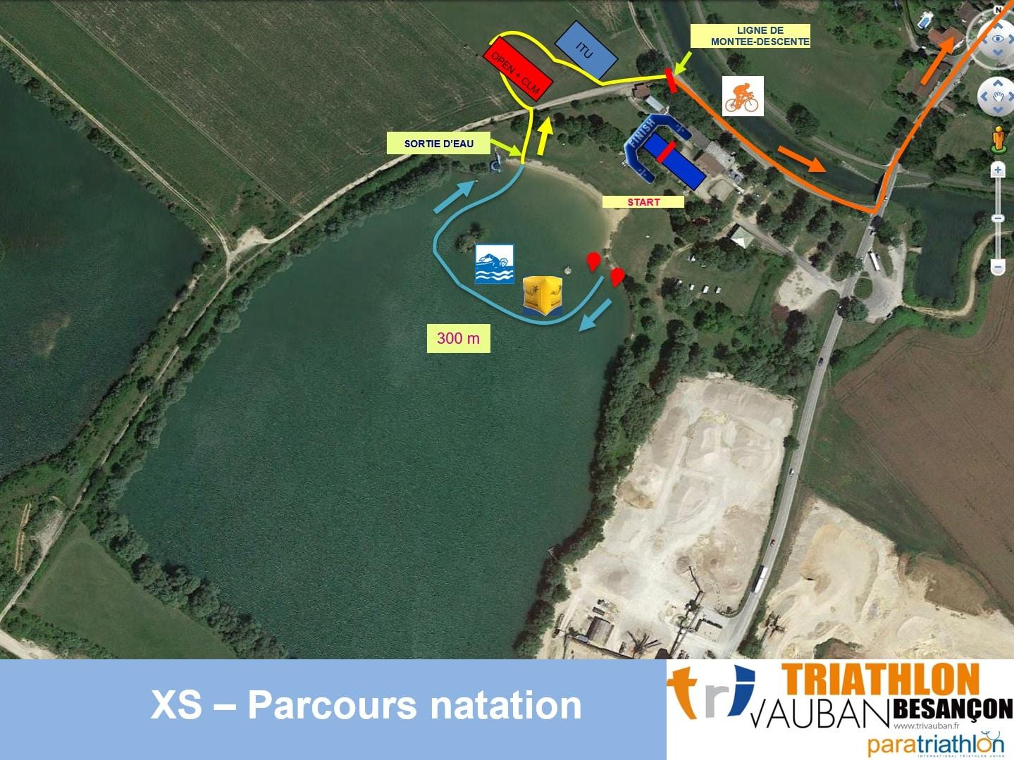 Parcours Natation Xs Triathlon Vauban