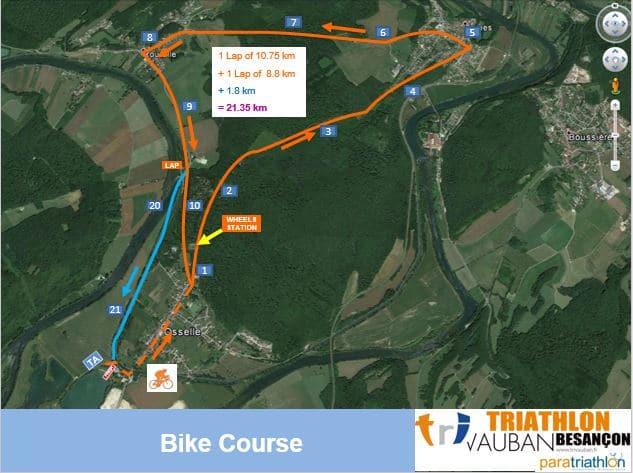 Parcours Vélo Itu Triathlon Vauban