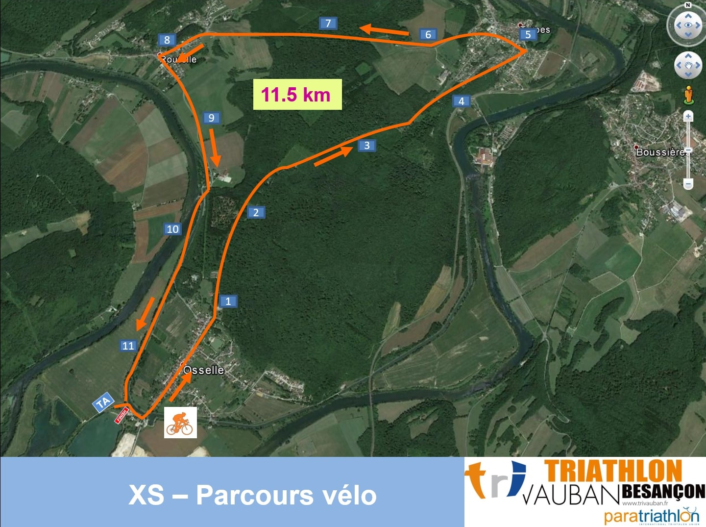 Parcours Vélo Xs Triathlon Vauban