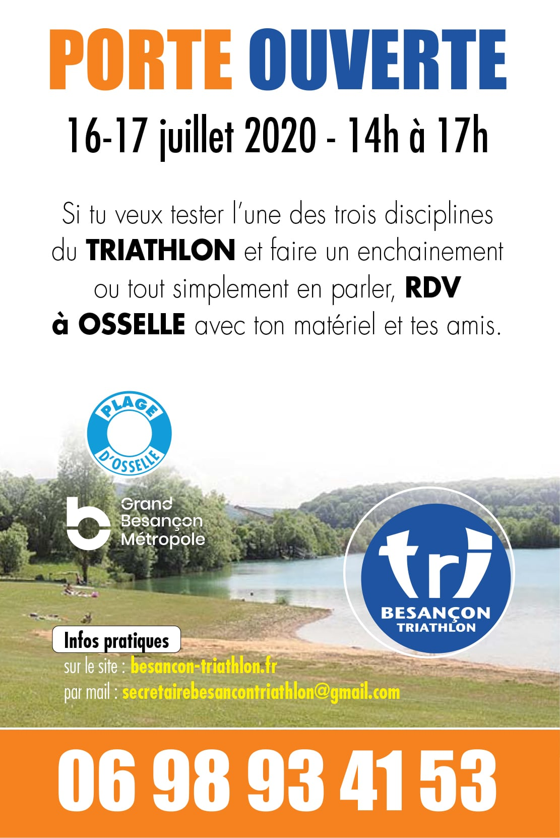 Porte Ouverte Besançon Triathlon Osselle 2020